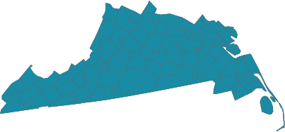South Central Virginia & Albemarle Bay CFC zone map