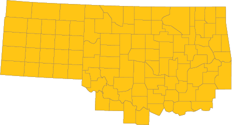 Oklahoma & Texas Panhandle CFC zone map