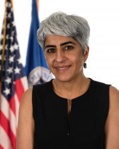 Official portrait of Kiran Ahuja, Director, OPM